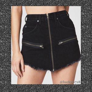 LF Carmar LA NWT Black Beatrice Jean Skirt Sz 26